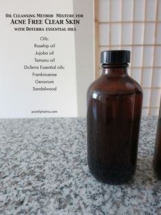 The best oil cleansing mixture for washing our faces to stay acne free! Using high quality oils mixed with #doterra essential oils has made the biggest difference for our skin. Jojoba, rosehip and tamanu are great for #acne prone skin and oily/sensitive skin! Making your own blend is easy and last for months!