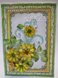 Yellow Daisies card by Olga Jewell