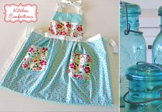 Kitchen Confections in Moda& Vintage Modern: Pleated Apron Vintage Modern, Moda Vintage, Aprons Vintage, Retro Apron, Fabric Crafts, Sewing Crafts, Sewing Projects, Diy Crafts, Scrap Fabric