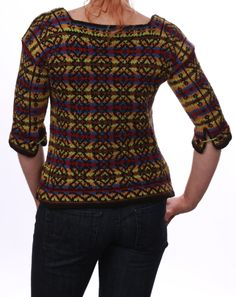 Matryoshka back Knits, Knitwear, Fiber, Challenges, Craft Ideas, Knitting, Blouse, Long Sleeve, Sleeves