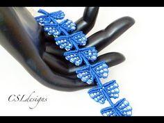 Micro macrame wings bracelet - YouTube