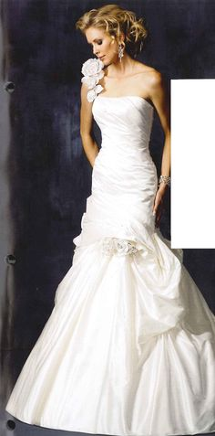 trumpet silhouette by Maggie Sottero #wedding #bridal #gown #dress
