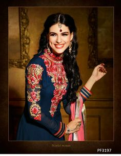 #Partywearsuits Look flawlessly beautiful in this Blue Salwar Suit. Available with impressive Lace work, on Ethnic Station http://www.ethnicstation.com/blue-lace-work-salwar-suit-18