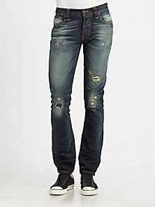 e6611d77470 Nudie Jeans - Grim Tim Straight-Slim Jeans