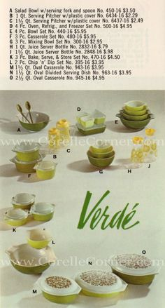 1968 leaflet, Verde (great reference site with original prices)