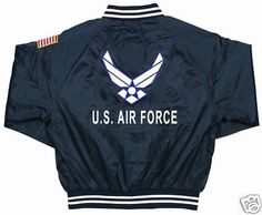 U.S. Air Force & Emblem Satin Jacket  $ 89.95 Free Shipping