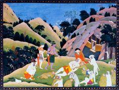 """Unknown Artist : """"Death of Bali"""" (Ramayana, c1780-1800) - Giclee Fine Art Print Renfield's Garden http://smile.amazon.com/dp/B00JU51P9G/ref=cm_sw_r_pi_dp_mKJwvb0VPCGGY"""