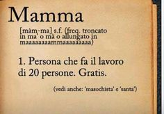 Risultati immagini per la mamma quella persona che ha sempre ragione Words Quotes, Sayings, Italian Quotes, Dear Mom, Thing 1, Learning Italian, Meaning Of Life, Just Smile, True Words