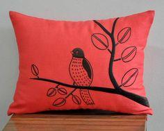 Bird Lumbar Pillow Cover Decorative Pillow Cover by KainKain, $22.00
