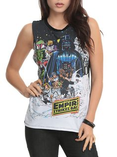 Star Wars The Empire Strikes Back Girls Muscle Top, BLACK