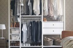 IKEA says: Whether for a walk-in wardrobe, hallway solution or a business, ELVARLI storage system provides open storage that's easy to get just right, while looking nice