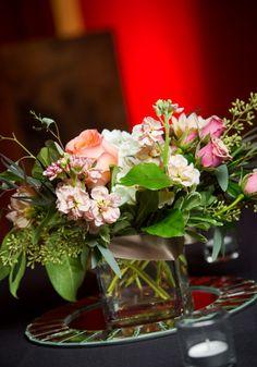 Wedding table centerpieces, reception, flowers