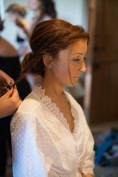 Plait Twist Braid Hair Style Bride Bridal Copper Dusky Lilac Grey Rustic Barn Wedding http://www.kayleighpope.co.uk/