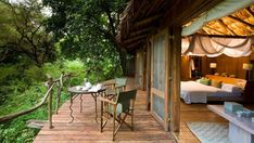 Lake Manyara Tree Lodge, the views are so beautiful from above.  Sleep in a tree but they're not missing the luxury.  10 suites all wrapped in the beauty & privacy of the mahogany forest.