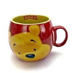 NEW Disney Mug winnie the Pooh Bear ceramic barrel red yellow coffee tea drink Disney Mugs, Pooh Bear, Drinking Tea, Winnie The Pooh, Barrel, Cups, Ceramics, Coffee, Yellow
