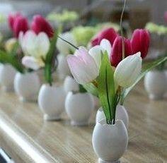 Easter Egg Flower Vases