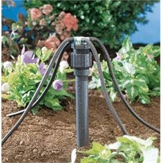 Sprinkler Juice: Converting Your In-ground Sprinkler System to Drip Irrigation    Drip adapter, drip manifolds, program those stations. Must convert entire sections of sprinkler system. Based on zones.