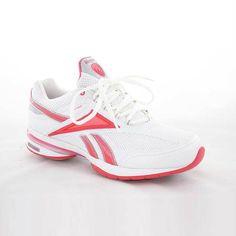 2d7a1920c7f Reebok Womens Easytone Reenew White Mesh Athletic Shoes