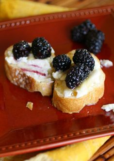 Easy fresh fruit bruschetta appetizers