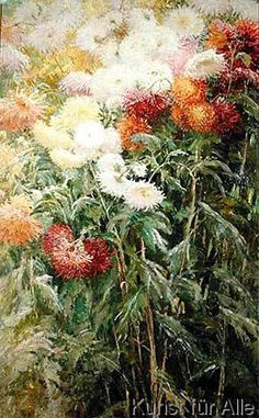 Gustave Caillebotte - Clump of Chrysanthemums, Garden at Petit Gennevilliers, 1893