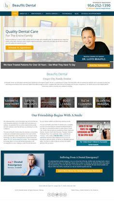 Dental Responsive #Website Redesign for Beaufils Dental  #webdesign #customwebsite #responsivewebdesign #dentist