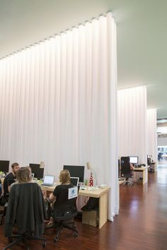 lagranja design create a leafy, light-filled office in barcelona in barcelona, studio lagranja have created an airy, plant-filled office space for start-up 'typeform', based on ideals of fresh air and free mobility. Bureau Design, Workspace Design, Office Interior Design, Office Interiors, Office Designs, Contract Design, Office Curtains, Space Dividers, Cool Office Space