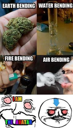 Earth, Fire, Water, Air Bending – Weed Avatar