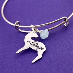 "Snape's Patronus ""Always"" Adjustable Bangle Bracelet - Spiffing Jewelry"