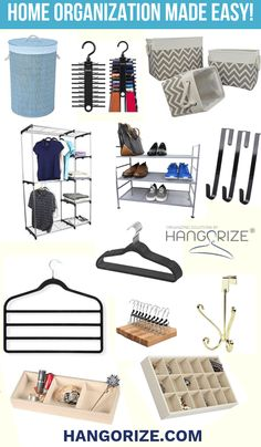 Decluttering your home? We're your one-stop-shop for hangers and clothing organizers. At Hangorize, we provide a wide-selection of quality hangers & clever home storage solutions. Cupboard Organisation Bedroom, Bedroom Cupboards, Bedroom Storage, Storage Organization, Collapsible Storage Bins, Organizing Your Home, Organizing Ideas, Home Storage Solutions, Cupboard Design