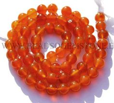 14 Inch Natural Carnelian Beads in Round Smooth Shape, (Quality AA), to Semiprecious Gemstone Beads, Craft Supplies by beadsogemstone on Etsy Bead Store, Carnelian, Semi Precious Gemstones, Round Beads, Gemstone Beads, Craft Supplies, Smooth, Shapes, Beadwork