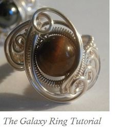 TUTORIAL, Wire Wrapped Ring, The Galaxy Ring, Advanced Wire Weaved Jewelry Project, Learn How to Make Wire Jewelry