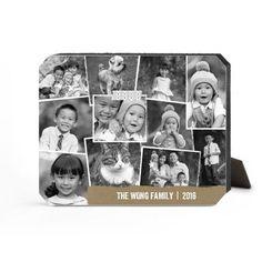 Craft Collage Desktop Plaque, Ticket, 8 x 10 inches, Beige