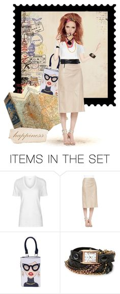 """""""White Basic T - 2"""" by confusgrk ❤ liked on Polyvore featuring art and AmiciMei"""