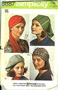 Simplicity 5933 ladies vintage sewing pattern for hats