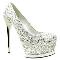 Stylish Glitter Heels, a must have fashionable item. Get these beautiful high heeled shoes as a stylish footwear option. Dream Shoes, Crazy Shoes, Me Too Shoes, Blue High Heels, Silver High Heels, White Heels, Hot Shoes, Pump Shoes, Shoes Heels
