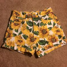 For Sale: Sunflower Mom Shorts for $30