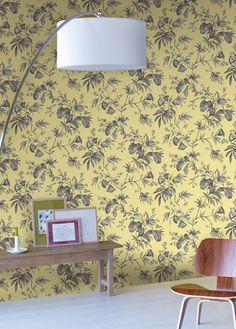 Empapelado - Flores lilas - Papel de parede