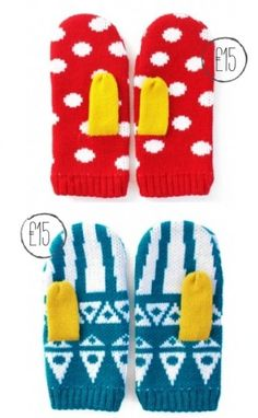 patterned mittens