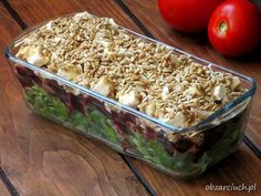 Sałatka król stołu - Obżarciuch Healthy Salad Recipes, Snack Recipes, Dessert Recipes, Cooking Recipes, Snacks, Delicious Deserts, Polish Recipes, I Foods, Love Food