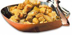 Intialaisittain maustetut bataattikuutiot Ethnic Recipes, Food, Essen, Meals, Yemek, Eten