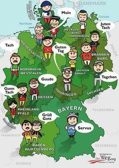 Deutsch Lernen l Alemán — Guten Tag! German Grammar, German Words, European Languages, Foreign Languages, Learn Languages, Deutsch Language, Germany Language, Federal Way, German English