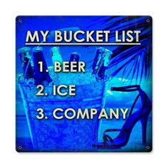 Bucket List Sign