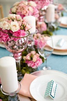Cute centerpieces  #RobbinsBrothers #GetEngaged