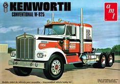 and Heavy Truck Commercial Peterbilt, Fire Trucks, Kenworth model truck kits and scale replicas. Lamborghini Miura, Model Truck Kits, Model Kits, Bmw Alpina, Kenworth Trucks, Pickup Trucks, Peterbilt 359, Rc Trucks, Plastic Model Cars