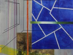Rational Space #4 Detlef Gotzen (2011) acrylic and ink marker on canvas 20in × 24in × 1in