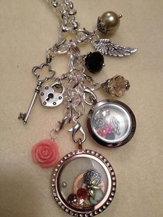 Steampunk inspired design. Check out my Origami Owl Independent Designer page - http://electricsoup.origamiowl.com!