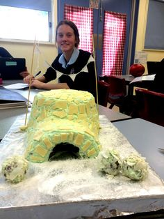 An igloo #birthdaycake in #geography class. Photo from Mater Dei College Wagga Wagga.