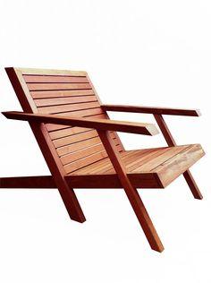 Modern adirondack chair.  Endgrainfurniture.com