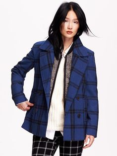 Wool-Blend Peacoat Product Image