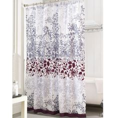 Possible bathroom shower curtain.Enchanted Purple fabric curtain from Bed Bath and Beyond